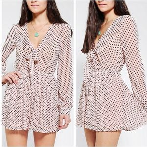 UP sparkle & fade polka dot pleated playsuit